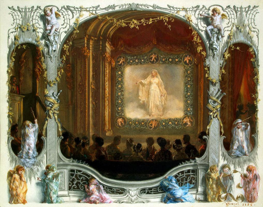 Адольф фон Менцель. Праздник в театре Нового дворца