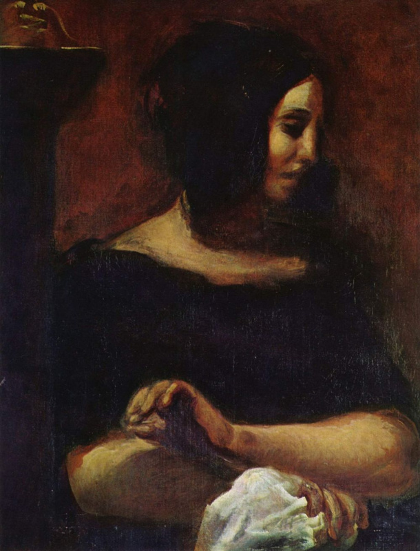 Eugene Delacroix. Portrait Of George Sand