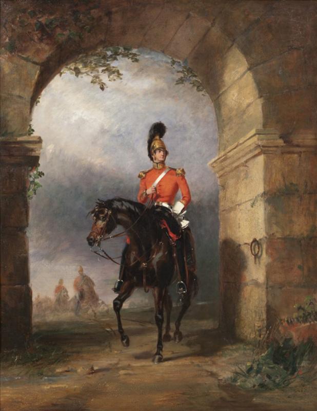 Портрет офицера гвардейских драгун британской армии