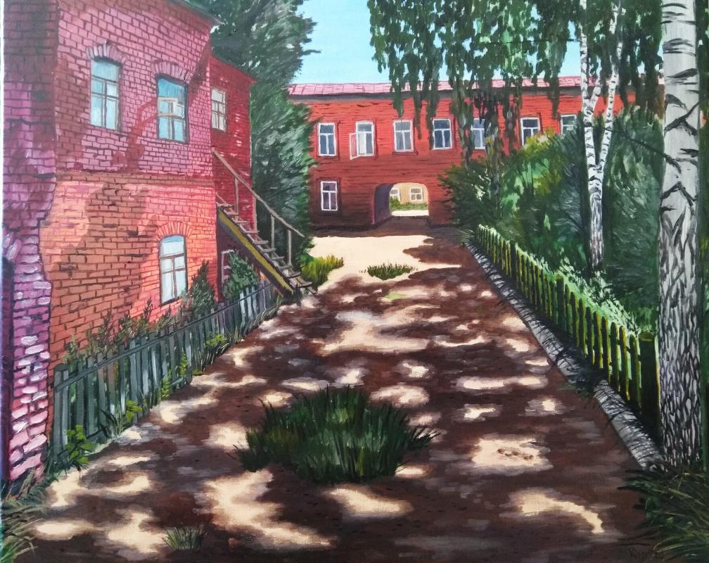 Vladimir Adamovich Ropot. Odessa. Sunny day, old courtyard