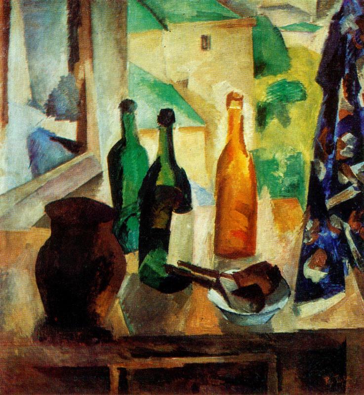 Роберт Рафаилович Фальк. Бутылки у окна