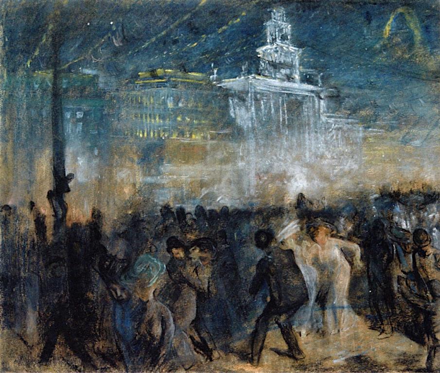Theophile-Alexander Steinlen. Festive Paris at city hall