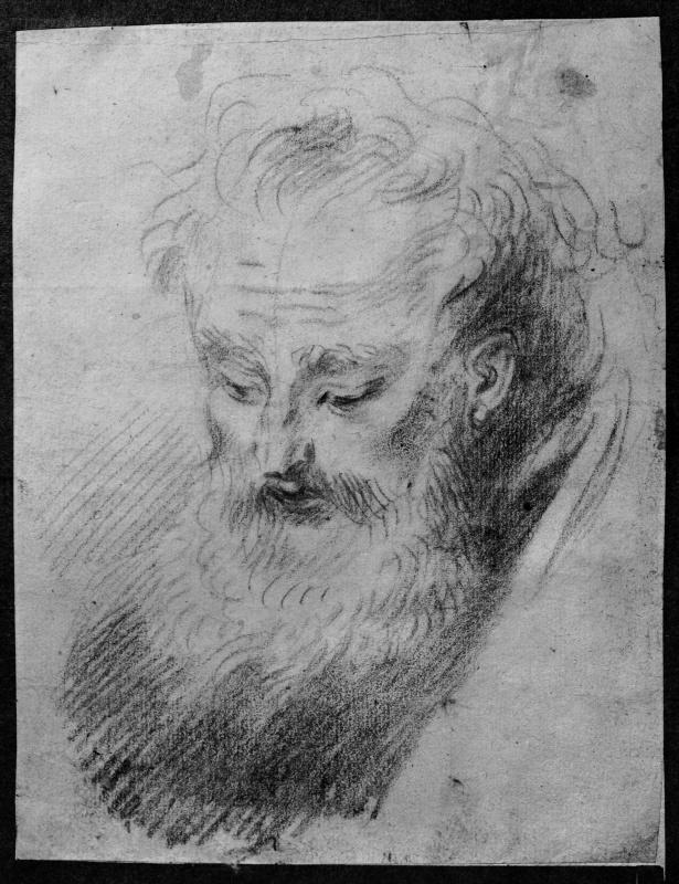 Антуан Ватто. Голова старого бородатого человека