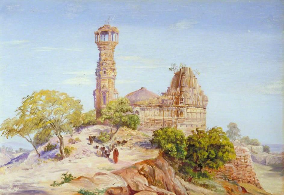 Marianna North. Jain Tower and Chittore Temple, India