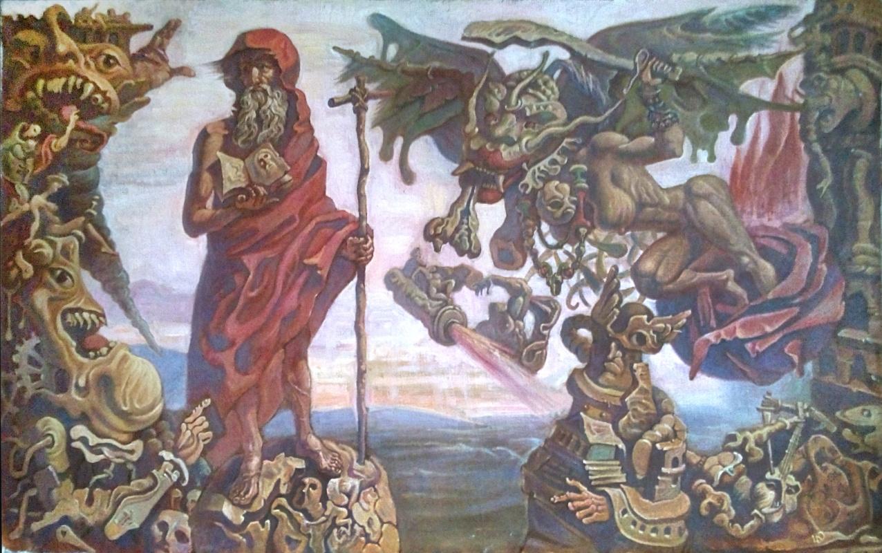 Daniil Litvinov. Искушение св.Антония