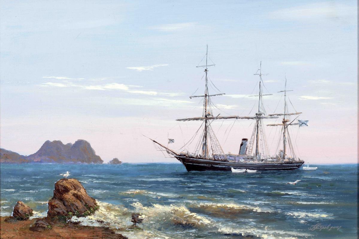 Pavel Evgenievich Petrov. Training ship Faithful 19th century custom ship