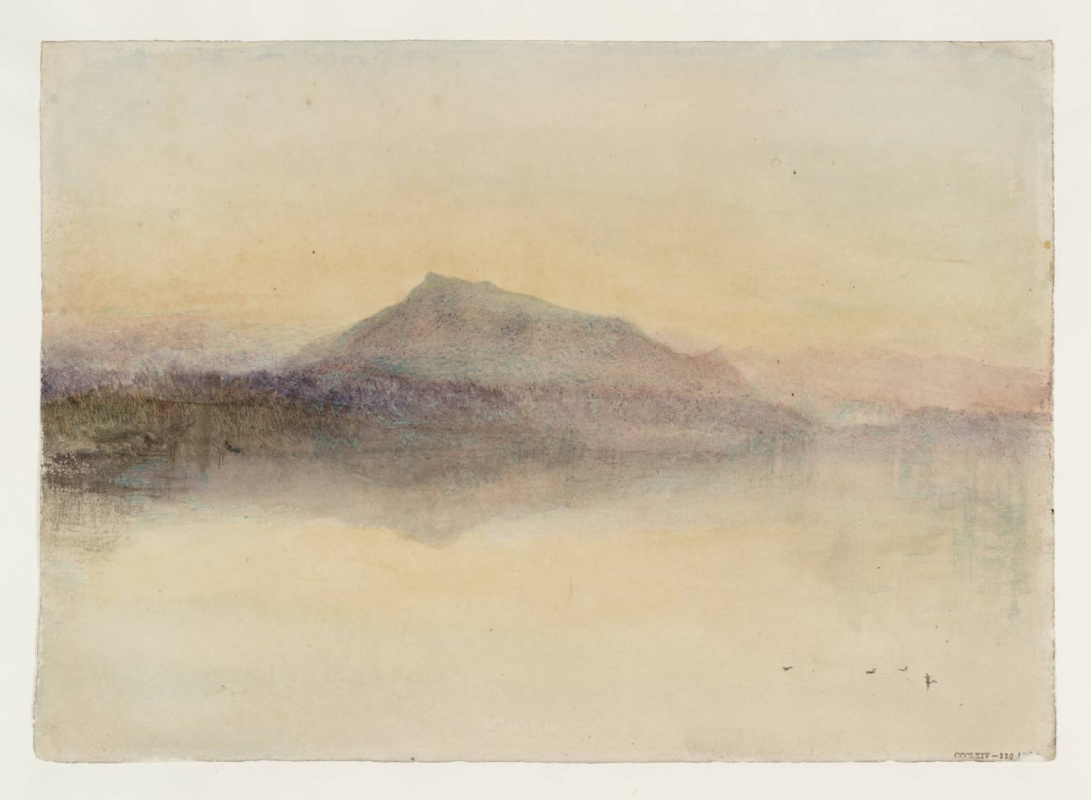 Joseph Mallord William Turner. Blue Rigi. A rough sketch