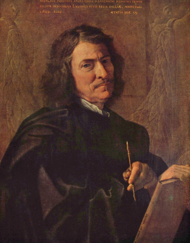 Nicola Poussin. Self-portrait