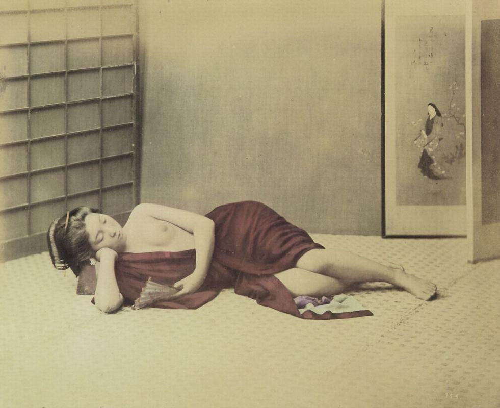 Раймонд фон Штильфрид-Райтениц. Женщина, спящая на циновке