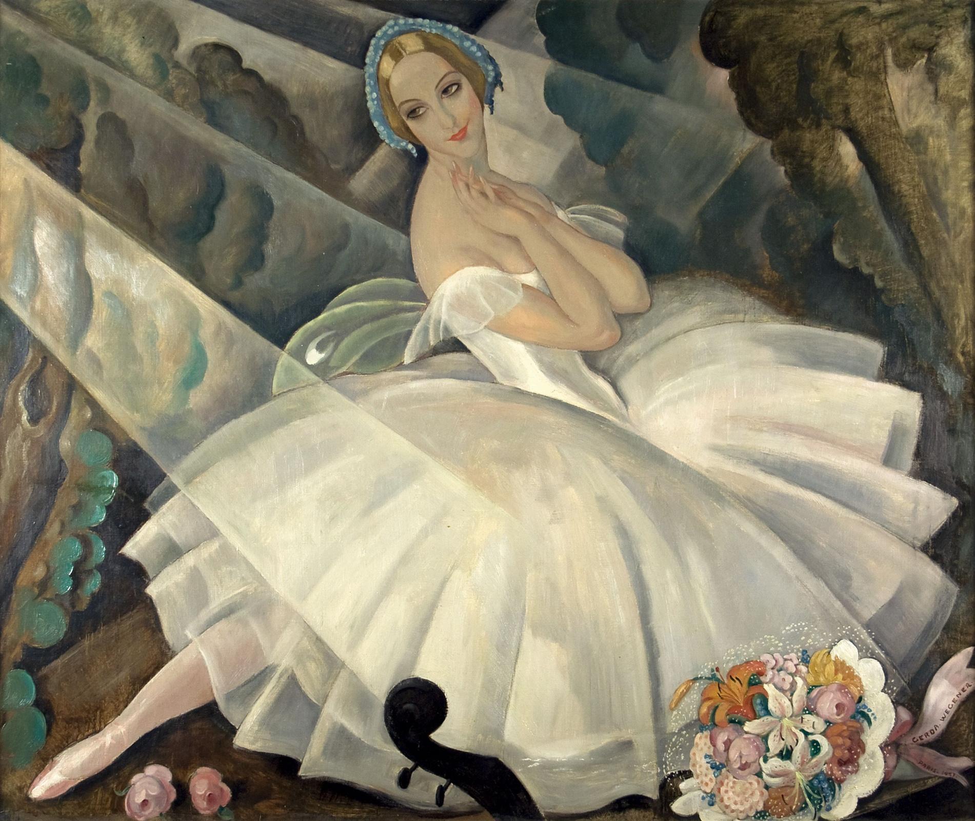 Герда Вегенер. Балерина  Улла Поульсен в балете «Шопениана»