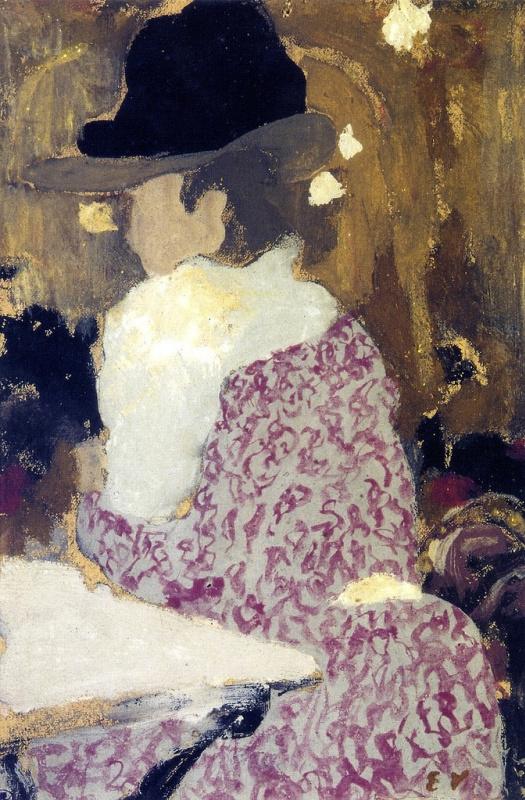 Jean Edouard Vuillard. A woman in a bar