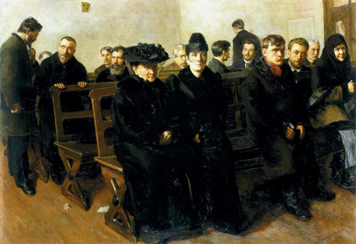 Евгений Иосифович Буковецкий. In a court