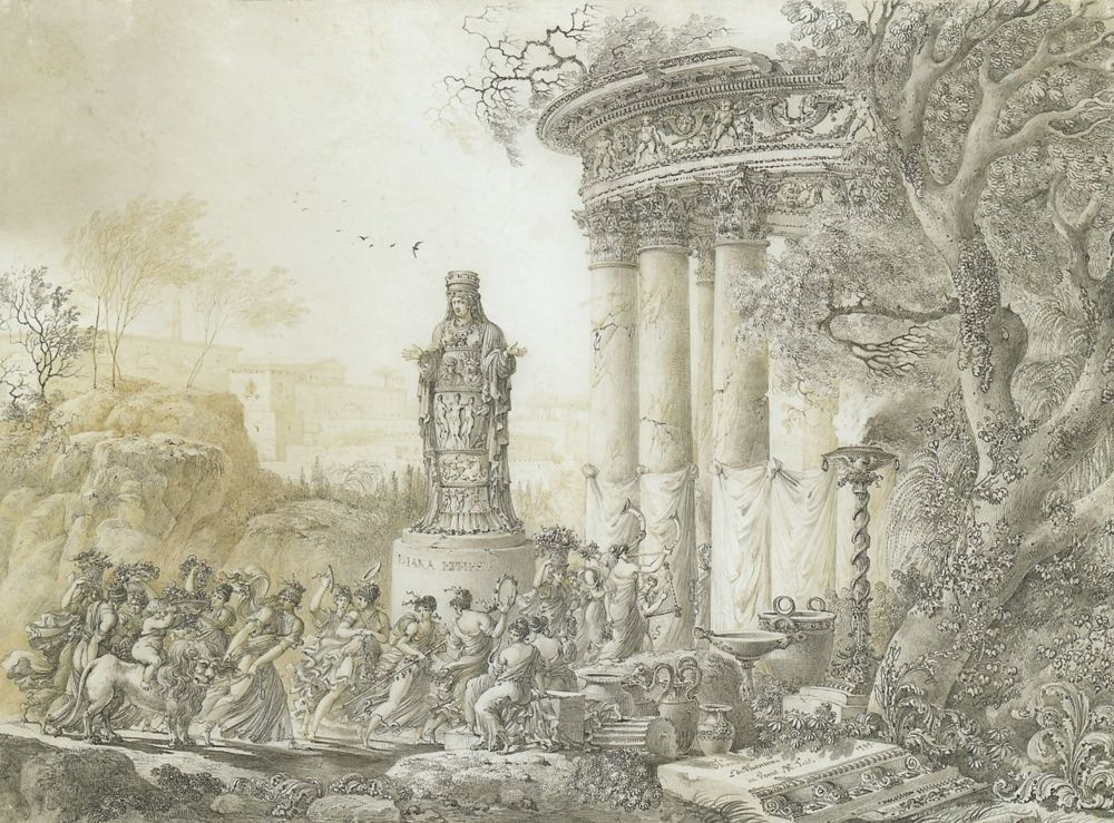 Жан Франсуа Тома де Томон. Праздник в честь Дианы