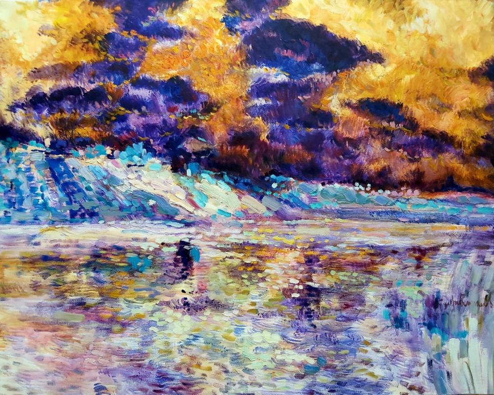 Alexander Mukha / Mukhomedeev-Boyarov. Purple clouds
