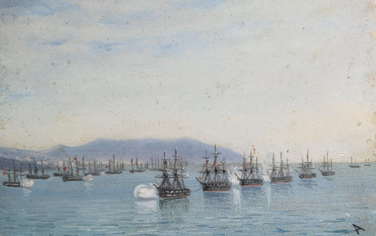 Ivan Aivazovsky. Naval parade in Odessa