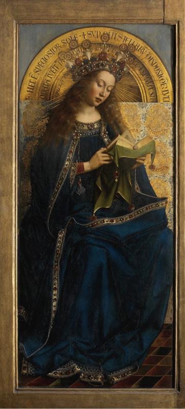 Jan van Eyck. The Ghent altarpiece. The virgin (fragment)