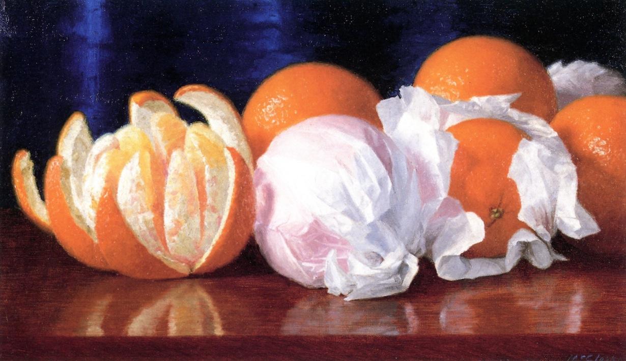 William Joseph McCloskey. Oranges in tissue paper
