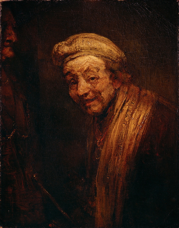 Rembrandt Harmenszoon van Rijn. Self-portrait in the image of laughing Zeuxis