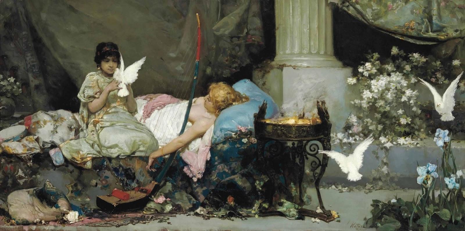 Wilhelm Kotarbinsky. Mistress of the harem with her maid