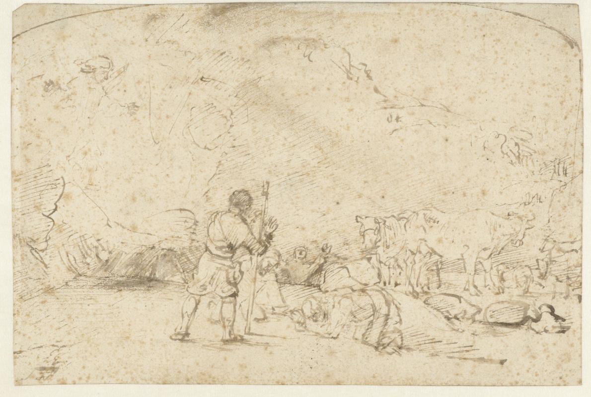 Rembrandt Harmenszoon van Rijn. Annunciation to the Shepherds