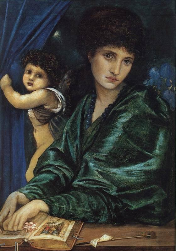 Edward Coley Burne-Jones. Portrait of Maria Zambako