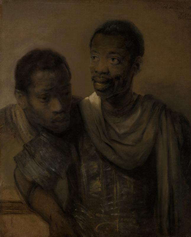 Rembrandt Harmenszoon van Rijn. Two of the moor