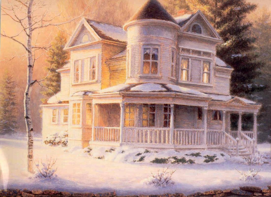 Richard Burns. White cottage