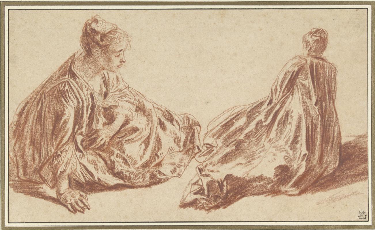Антуан Ватто. Два эскиза сидящей женщины