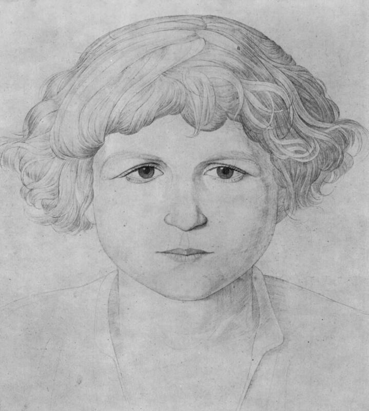 Петер фон Корнелиус. Портрет мальчика