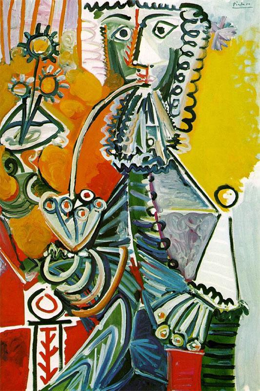 Пабло Пикассо. Мушкетер с трубкой и цветами