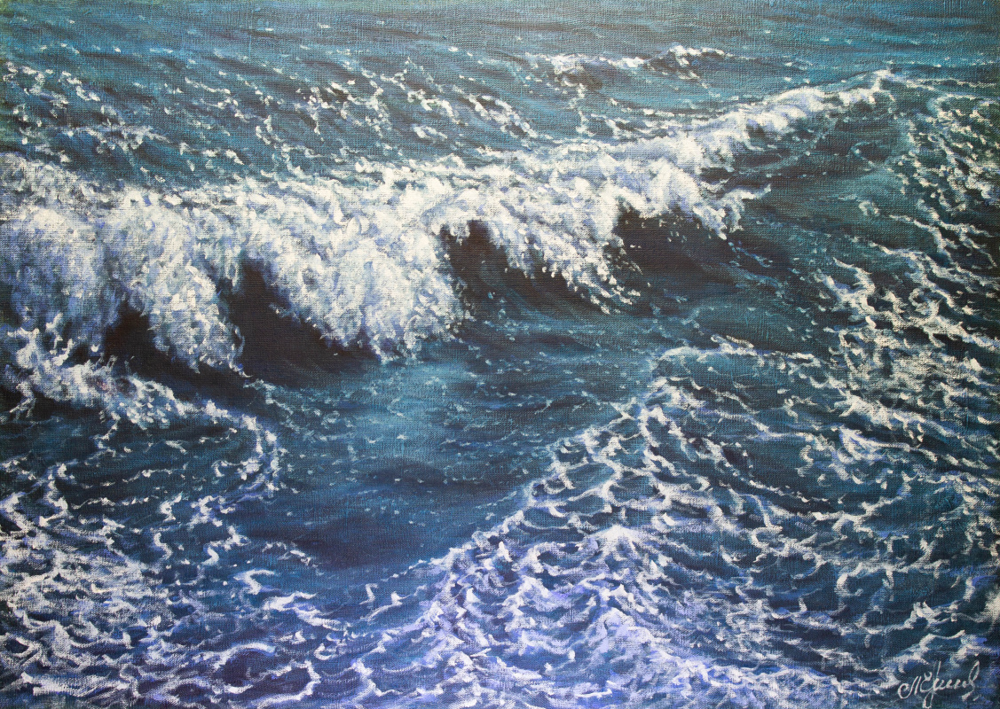 Valery Levchenko. № 491  Морской пейзаж.