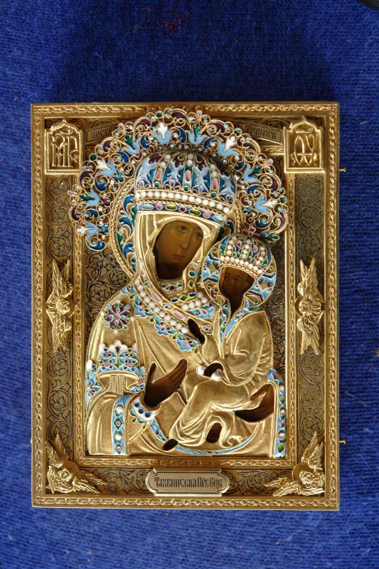 Московская Иконописная Мастерская. Икона Богородицы Тихвинская