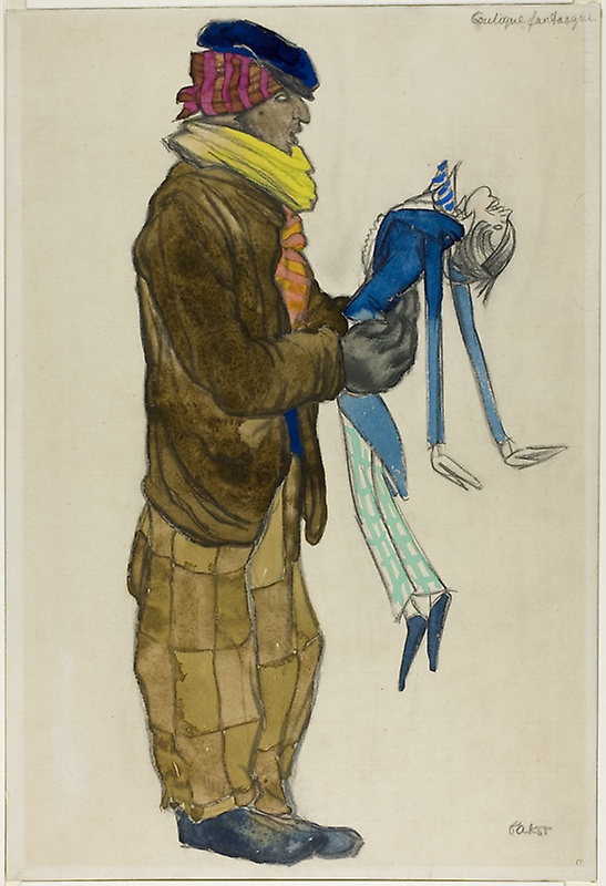 "Lev Samoilovich Bakst (Leon Bakst). Costume design for the ballet ""tent of miracles"""