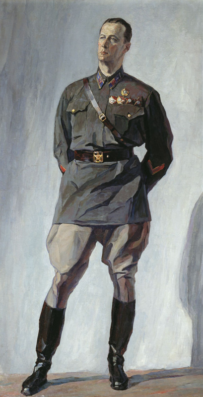 Pavel Dmitrievich Korin Russia 1892 - 1967. Portrait of the pilot M. M. Gromov. Samara Regional Art Museum