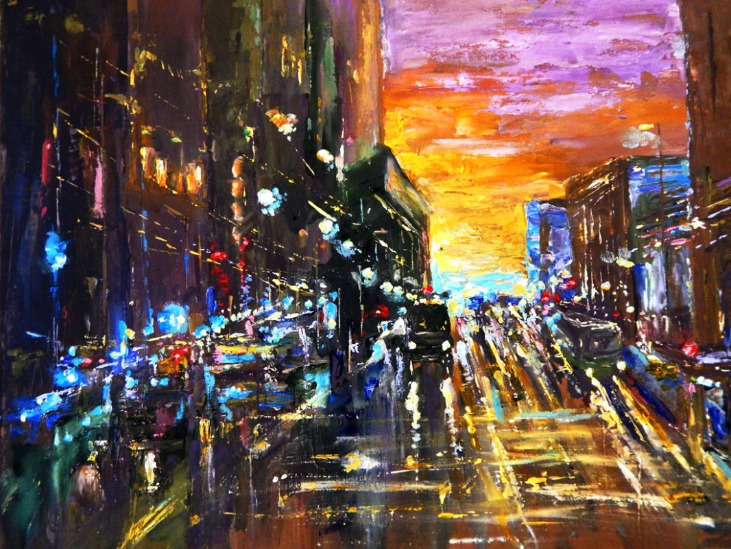 Marina Vladimirovna Patrikeeva. The lights of the evening city