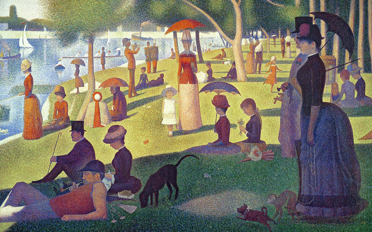 Georges Seurat. Sunday afternoon on the island of La Grande Jatte