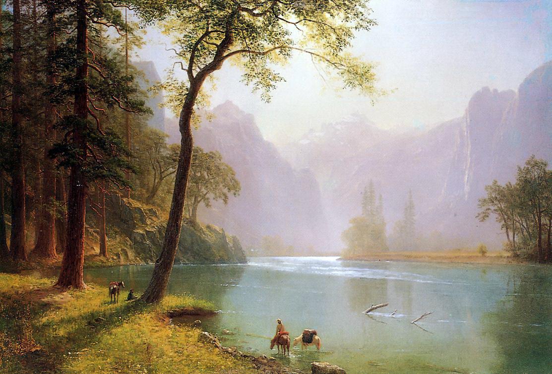 Albert Birštadt. In the valley of the Kern river, California