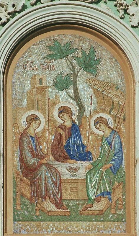 Aleksey Zagorsky. Trinity gate mosaic of the Trinity Sergius Lavra