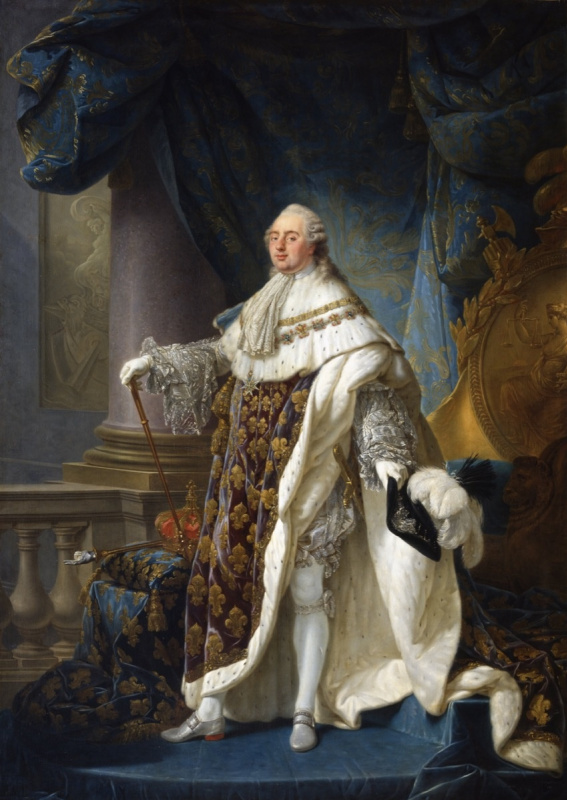 Антуан Франсуа   Калле. Людовик XVI, король Франции и Наварры, в коронационном одеянии, 1779