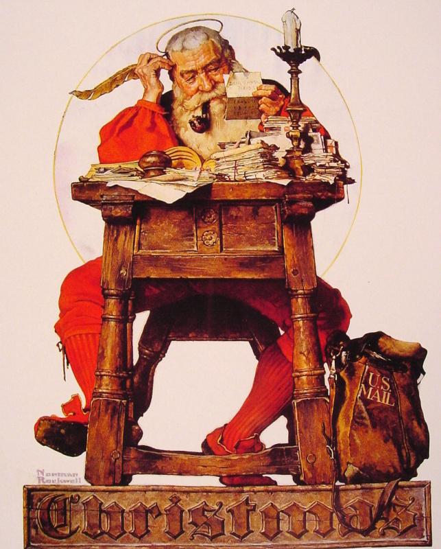 Норман Роквелл. Санта читает рождественскую почту