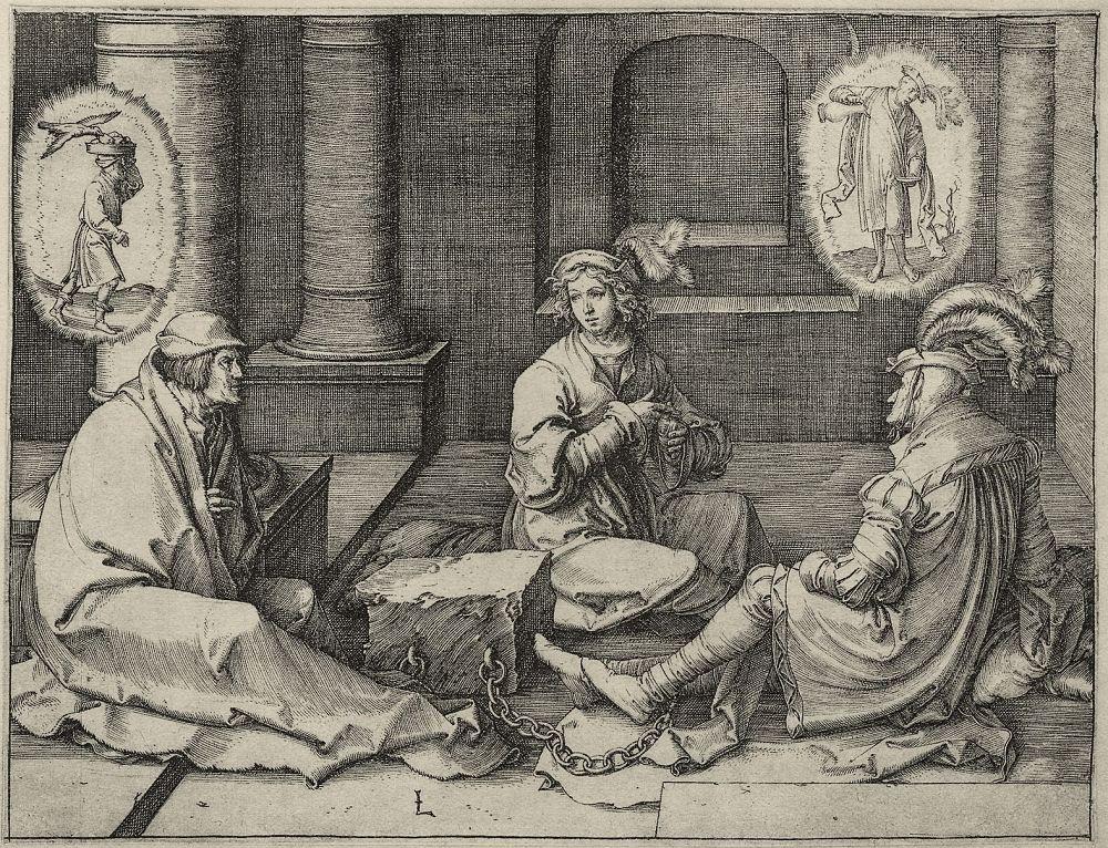 Лукас ван Лейден (Лука Лейденский). Иосиф, толкующий сны в тюрьме