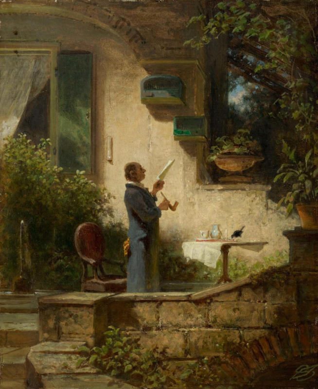 Karl Spitzweg. Reading