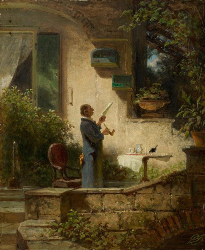 Karl Spitzweg. Reading