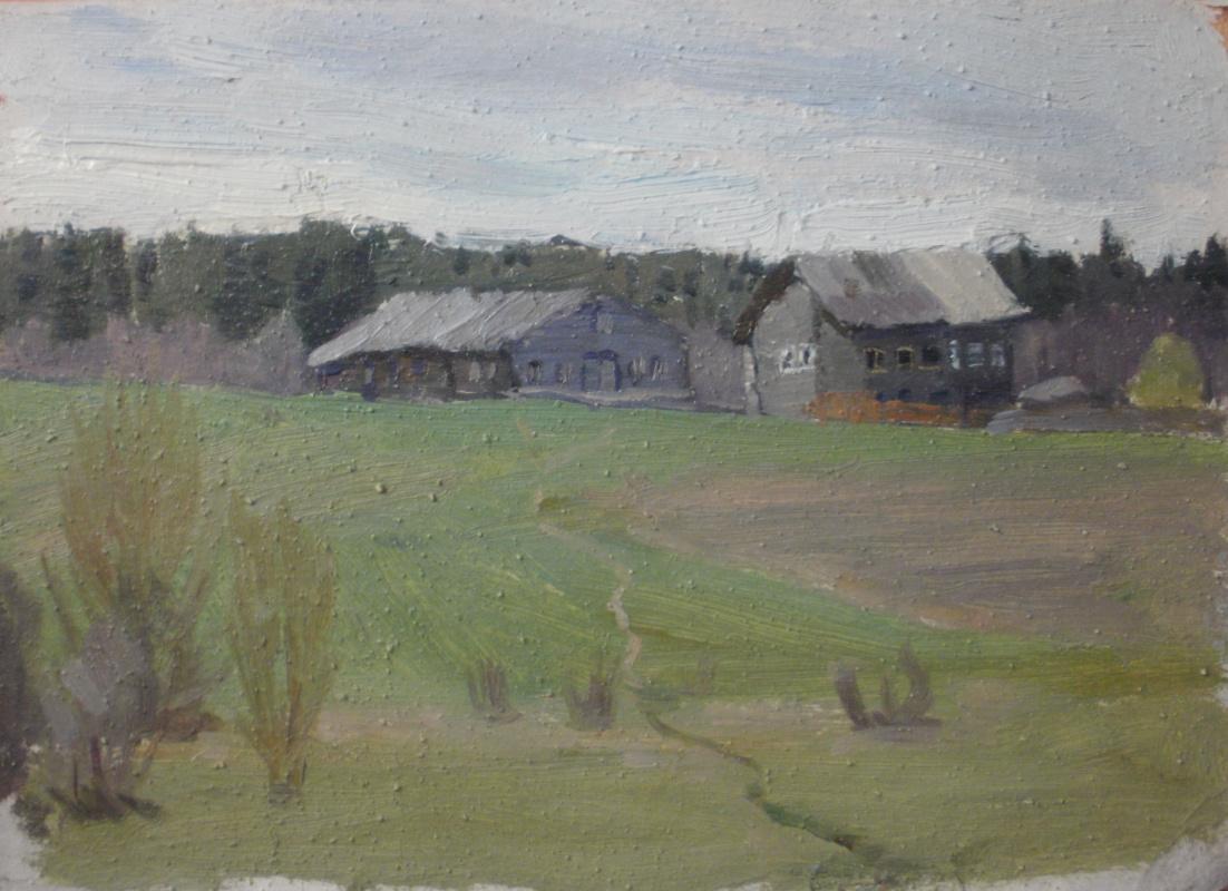 Nina Vasilievna Sedova. Near the forest