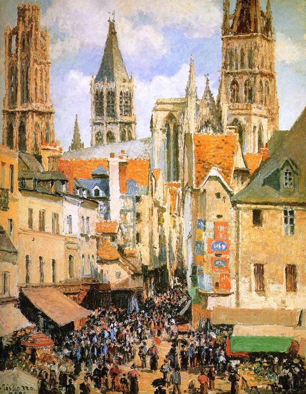 Camille Pissarro. The old market at Rouen