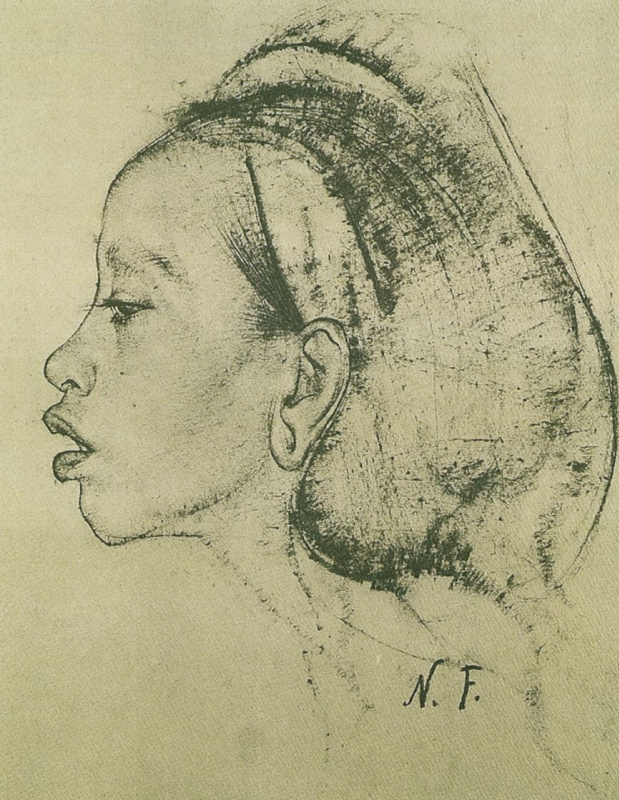 Nikolay Feshin. Female head