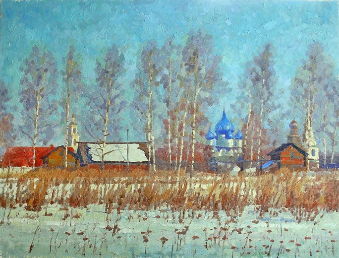 Michael Mine. Suzdal Kremlin. View from the Kamenka floodplain