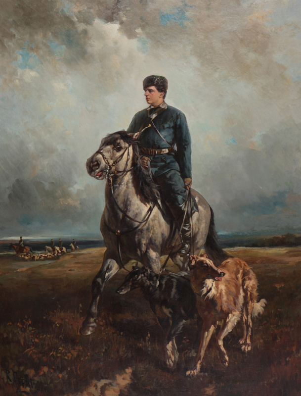 Rudolf Fedorovich Frenz. Grand Duke Vladimir Alexandrovich on the hunt 1890