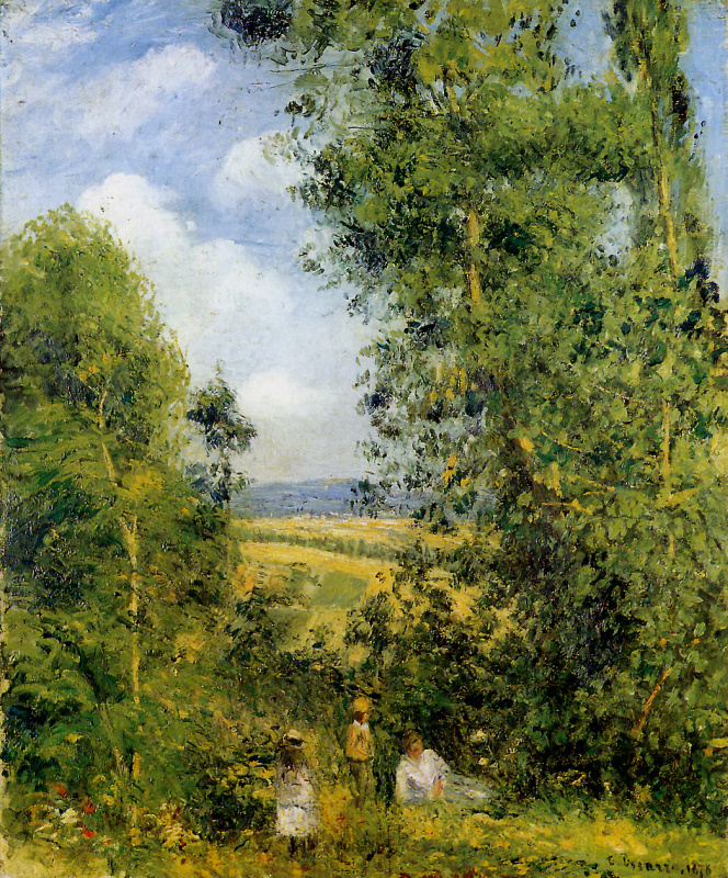 Camille Pissarro. Vacation in the woods of PONTOISE