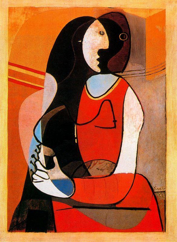 Пабло Пикассо. Сидящая женщина